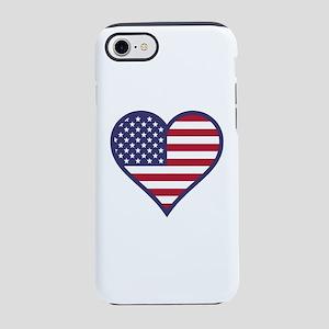 American Flag Heart iPhone 7 Tough Case