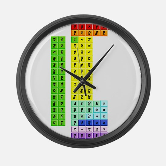 Chemical elements Large Wall Clock