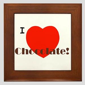 I Love Chocolate! Framed Tile