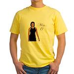 Mrs. Michelle Obama Yellow T-Shirt