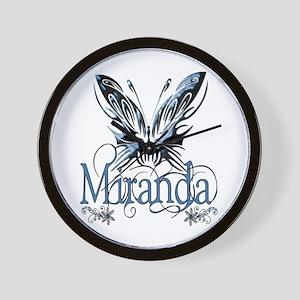 Beautiful Butterfly Miranda Wall Clock