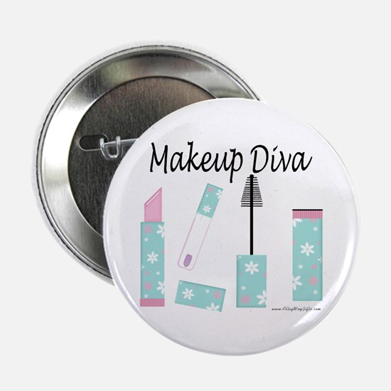 "Makeup Diva 2.25"" Button"