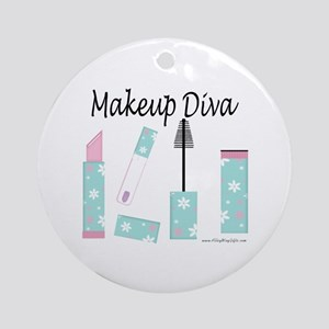 Makeup Diva Ornament (Round)