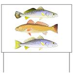 3 West Atlantic Ocean Drum Fishes Yard Sign