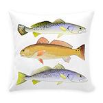 3 West Atlantic Ocean Drum Fishes Everyday Pillow