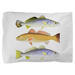 3 West Atlantic Ocean Drum Fishes Pillow Sham