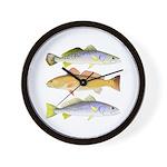 3 West Atlantic Ocean Drum Fishes Wall Clock