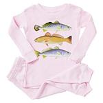 3 West Atlantic Ocean Drum Fishes Toddler Pink Paj