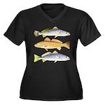 3 West Atlantic Ocean Drum Fishes Plus Size T-Shir
