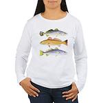 3 West Atlantic Ocean Drum Fishes Long Sleeve T-Sh