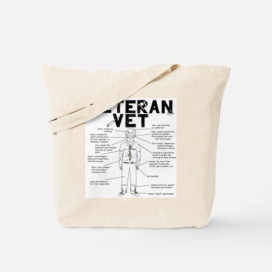 Veteran Vet Male Tote Bag