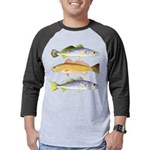 3 West Atlantic Ocean Drum Fishes Mens Baseball Te