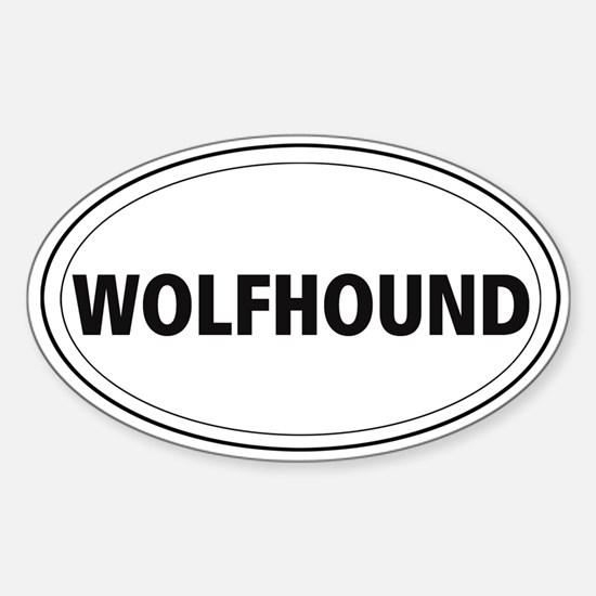 Wolfhound Oval Decal