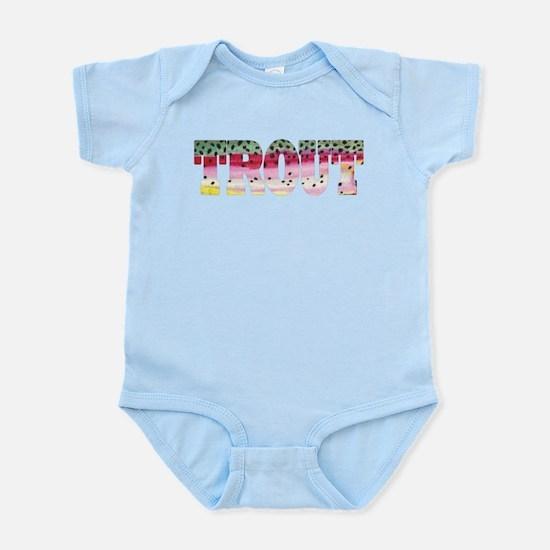Rainbow TROUT Infant Bodysuit