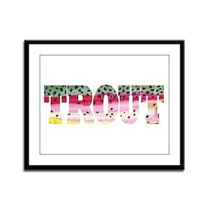 Rainbow TROUT Framed Panel Print