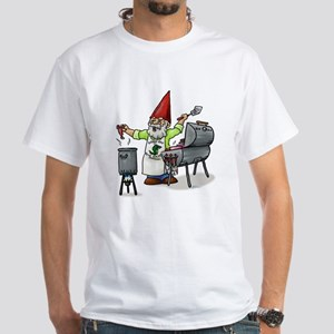 BBQ Gnome White T-Shirt