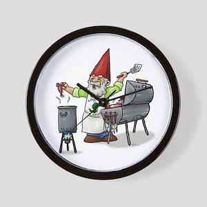 BBQ Gnome Wall Clock