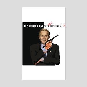 anti-Bush w Gods license..political humor Sticker
