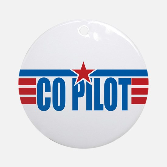 Co Pilot Wings Ornament (Round)