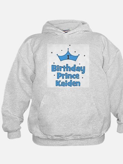 1st Birthday Prince Kaiden! Hoodie