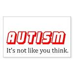 Autism Not Like U Think Rectangle Sticker