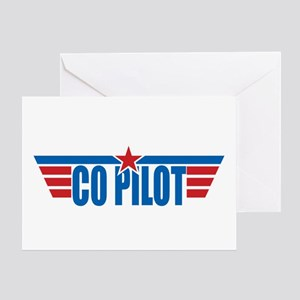 Co Pilot Wings Greeting Card