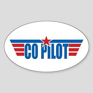 Co Pilot Wings Oval Sticker