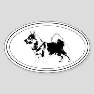 Vallhund Silhouette Oval Sticker