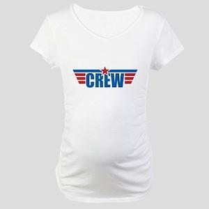 Aviation Crew Wings Maternity T-Shirt