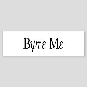 """Byte Me"" Bumper Sticker"