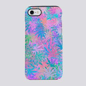 Pink Abstract Leaf Pattern iPhone 7 Tough Case