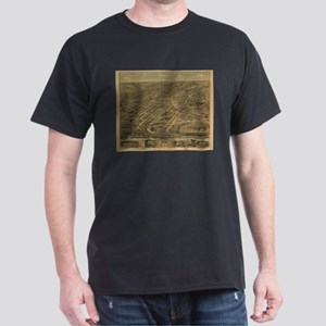 Vintage Pictorial Map of Akron Ohio (1870) T-Shirt