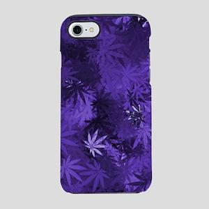 Purple Cannabis Leaves iPhone 7 Tough Case
