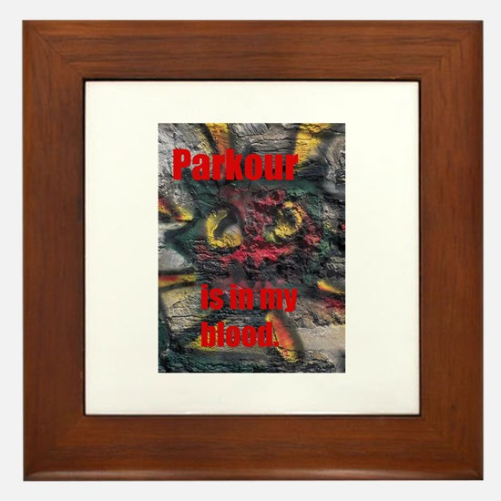 parkour shirt Framed Tile