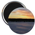 """Winter Sunrise 0163 2.25"""" Magnet (100 pack)"""