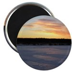 "Winter Sunrise 0163 2.25"" Magnet (10 pack)"