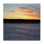 Winter Sunrise 0163 Tile Coaster