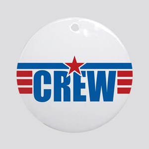 Aviation Crew Wings Ornament (Round)
