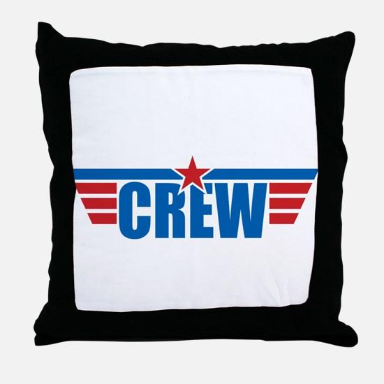 Aviation Crew Wings Throw Pillow