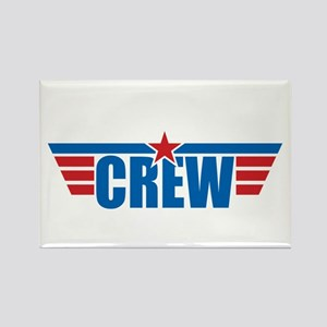 Aviation Crew Wings Rectangle Magnet