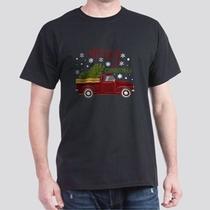 Vintage Red Christmas Truck Tree Farm T-Shirt