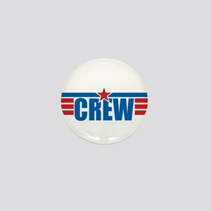 Aviation Crew Wings Mini Button