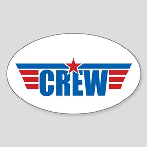 Aviation Crew Wings Sticker (Oval)