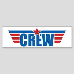 Aviation Crew Wings Sticker (Bumper)
