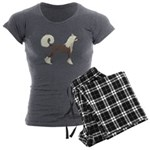 Chinese Crested Women's Charcoal Pajamas