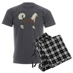 Chinese Crested Men's Charcoal Pajamas