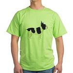 French Bulldog Green T-Shirt