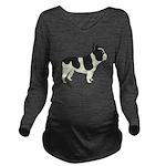 French Bulldog Long Sleeve Maternity T-Shirt