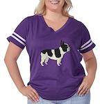 French Bulldog Women's Plus Size Football T-Shirt