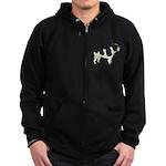 French Bulldog Zip Hoodie (dark)